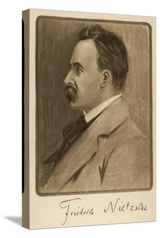 Friedrich Wilhelm Nietzsche German Philosopher and Writer--Stretched Canvas Print