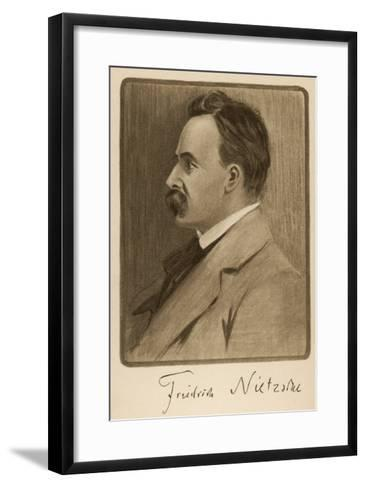 Friedrich Wilhelm Nietzsche German Philosopher and Writer--Framed Art Print