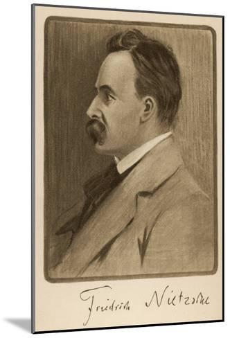 Friedrich Wilhelm Nietzsche German Philosopher and Writer--Mounted Giclee Print