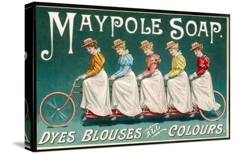 Five Ladies on One Bike--Stretched Canvas Print