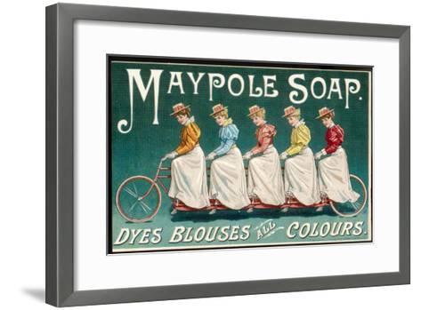 Five Ladies on One Bike--Framed Art Print