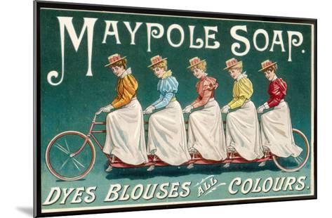 Five Ladies on One Bike--Mounted Giclee Print