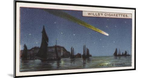 Halley's Comet--Mounted Giclee Print