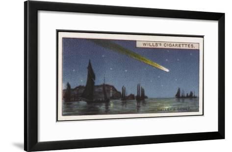 Halley's Comet--Framed Art Print
