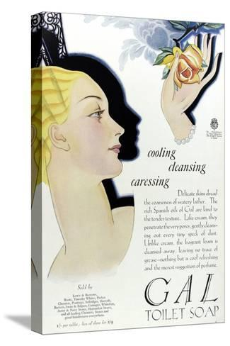 Full Page Colour Advertisement for Gal Toilet Soap from 1929--Stretched Canvas Print
