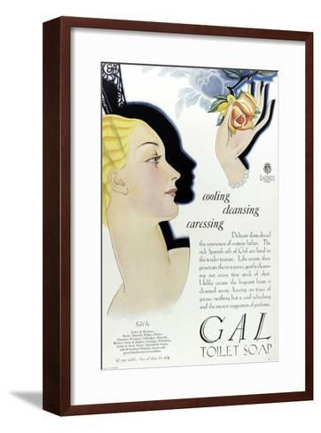 Full Page Colour Advertisement for Gal Toilet Soap from 1929--Framed Art Print