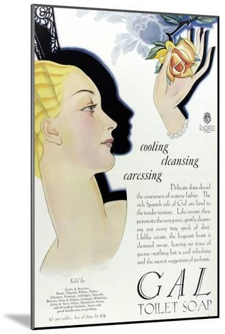 Full Page Colour Advertisement for Gal Toilet Soap from 1929--Mounted Giclee Print