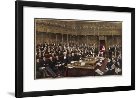 Gladstone Delivers His Last Speech in the House of Commons--Framed Art Print
