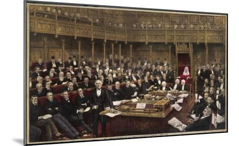 Gladstone Delivers His Last Speech in the House of Commons--Mounted Giclee Print
