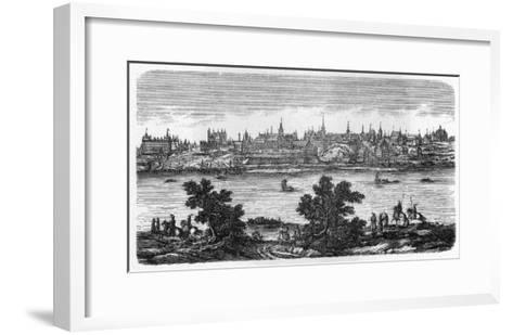 General View of Warszawa, Seen across the Vistula--Framed Art Print
