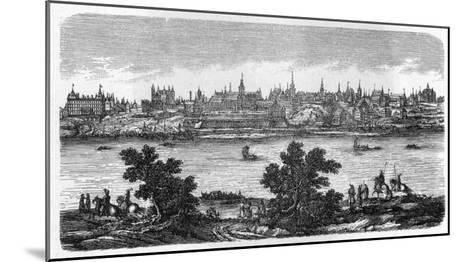 General View of Warszawa, Seen across the Vistula--Mounted Giclee Print
