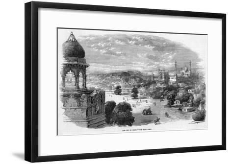 General View of the City with the Jama Masjid Mosque in the Distance--Framed Art Print