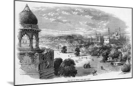 General View of the City with the Jama Masjid Mosque in the Distance--Mounted Giclee Print