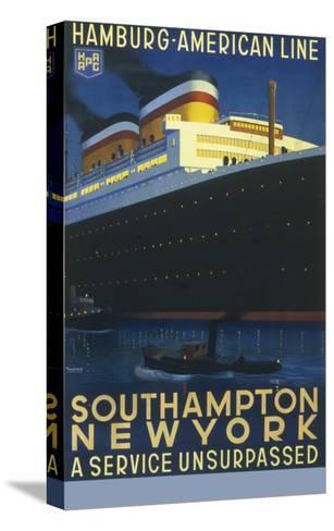 Hamburg American Line Passenger Ship Poster--Stretched Canvas Print