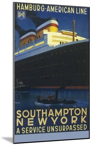 Hamburg American Line Passenger Ship Poster--Mounted Giclee Print