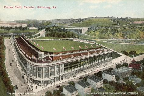 Forbes Field, Pittsburg, America, Home of the Pittsburg Pirates Baseball Team 1909--Stretched Canvas Print