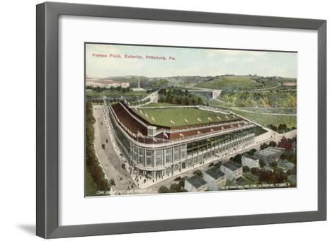 Forbes Field, Pittsburg, America, Home of the Pittsburg Pirates Baseball Team 1909--Framed Art Print