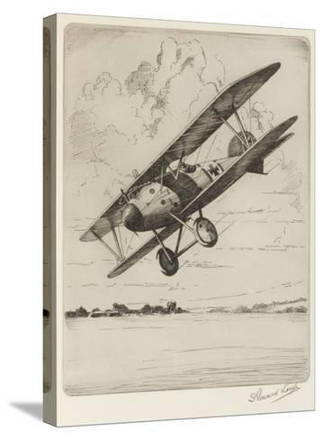 German Single-Seat Fighter, Armed with Two Machine Guns--Stretched Canvas Print
