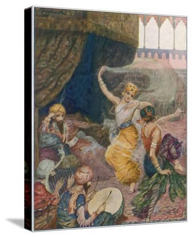 Girls of the Harem Dance to Entertain their Maharajah--Stretched Canvas Print