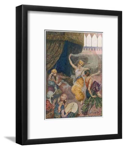 Girls of the Harem Dance to Entertain their Maharajah--Framed Art Print