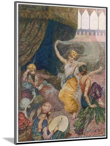 Girls of the Harem Dance to Entertain their Maharajah--Mounted Giclee Print