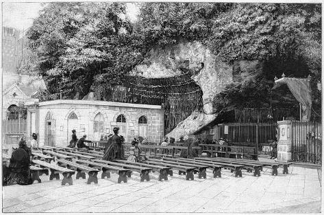 France Lourdes--Stretched Canvas Print