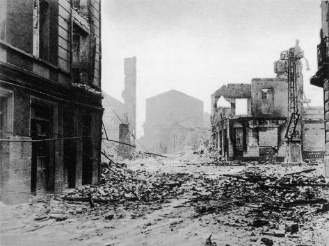 Guernica after Bombing, Spanish Civil War, 1937--Stretched Canvas Print