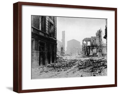 Guernica after Bombing, Spanish Civil War, 1937--Framed Art Print