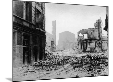 Guernica after Bombing, Spanish Civil War, 1937--Mounted Giclee Print