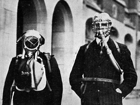 German Gas Masks--Stretched Canvas Print