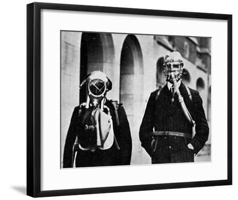 German Gas Masks--Framed Art Print