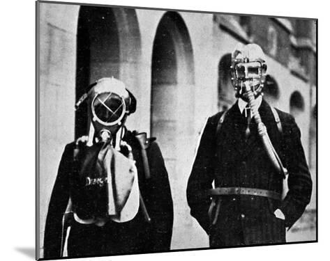 German Gas Masks--Mounted Giclee Print