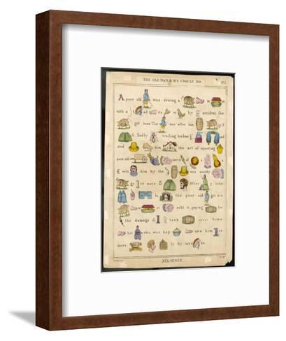 Rebus--Framed Art Print