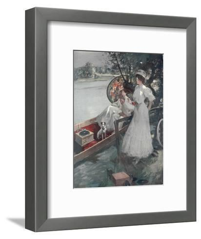 Full Page Colour Advertisement from 1909 for the Gramaphone Companys Pigmy Grand Gramophone--Framed Art Print