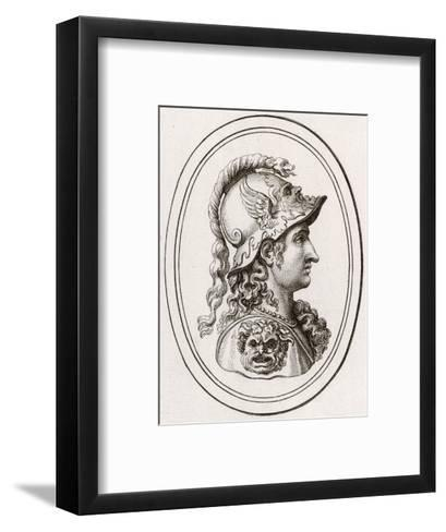 Greek Goddess of Wisdom, Patron of Athens, Adopted by the Romans as Minerva--Framed Art Print