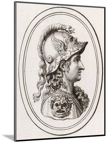 Greek Goddess of Wisdom, Patron of Athens, Adopted by the Romans as Minerva--Mounted Giclee Print
