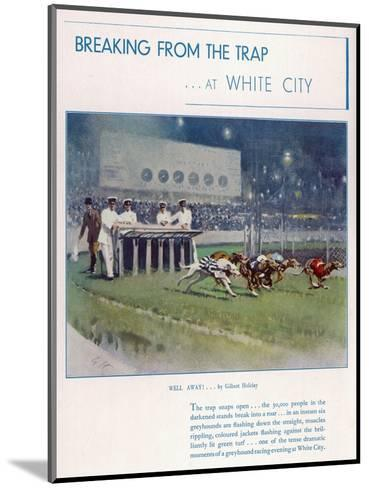 Greyhound Racing at White City--Mounted Giclee Print