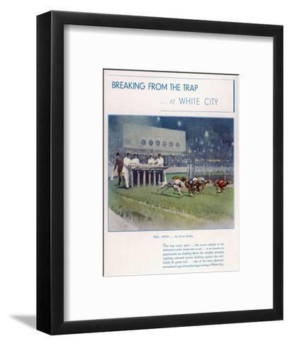 Greyhound Racing at White City--Framed Art Print