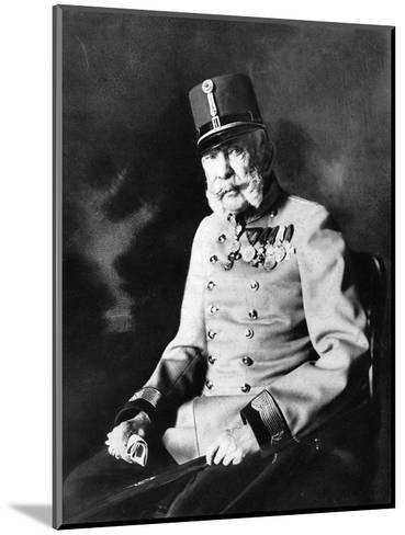 Franz Joseph I, Emperor of Austria, King of Hungary--Mounted Giclee Print