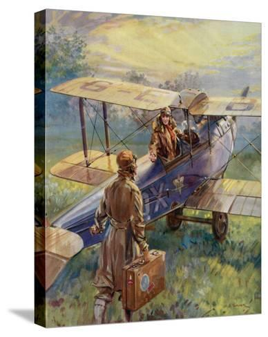 Flying for the Summer Week-End by C.E. Turner--Stretched Canvas Print