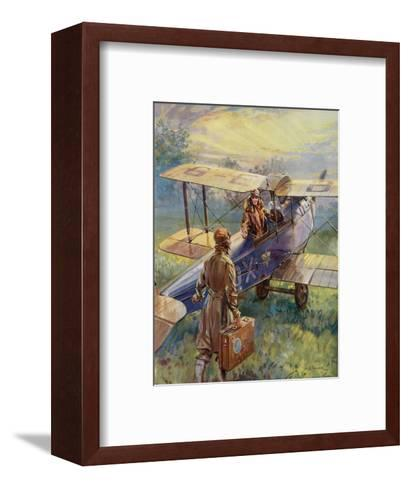 Flying for the Summer Week-End by C.E. Turner--Framed Art Print