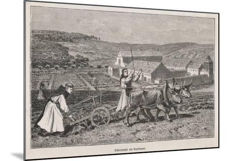 German Monks Farming--Mounted Giclee Print