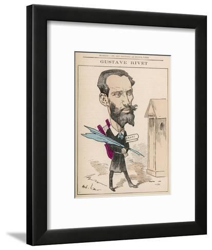 Gustave Rivet (1848-1936) French Poet, Playwright, Journalist and Politician--Framed Art Print