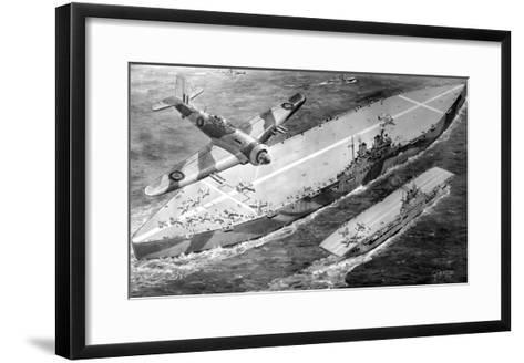 HMS 'Habbakuk' with HMS 'Indefatigable', 1946--Framed Art Print