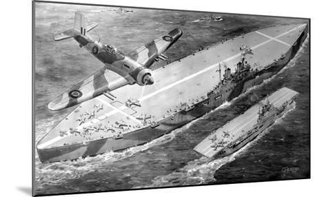 HMS 'Habbakuk' with HMS 'Indefatigable', 1946--Mounted Giclee Print