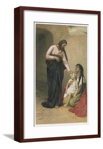 Jesus of Nazareth Jesus as the Healer--Framed Art Print
