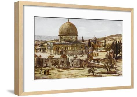 Jerusalem: Mosque of Omar (Dome of the Rock)--Framed Art Print