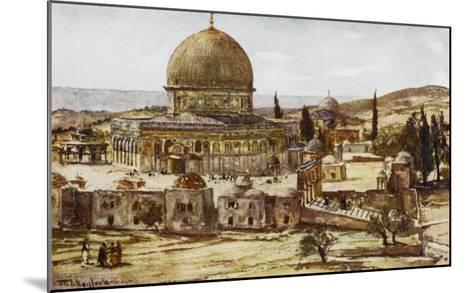 Jerusalem: Mosque of Omar (Dome of the Rock)--Mounted Giclee Print