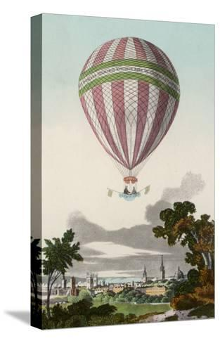 James Sadler's Balloon Ascent at Oxford--Stretched Canvas Print