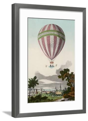 James Sadler's Balloon Ascent at Oxford--Framed Art Print
